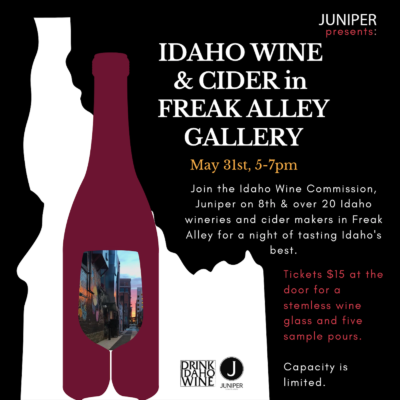 Idaho Wine and Cider Month Kick Off Event